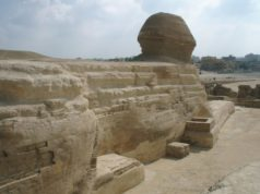 The Back of the Great Sphinx of Egypt