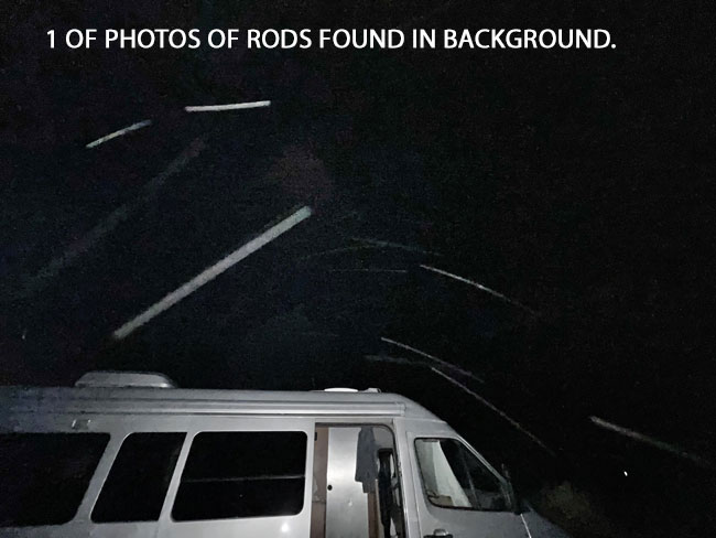 1 OF PHOTOS OF RODS FOUND IN BACKGROUND.